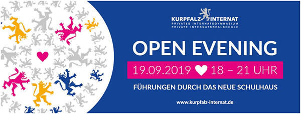 19.09.2019  - Einladung Open Event im Kurpfalz-Internat in Bammental